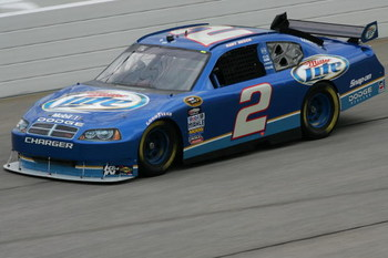 HAMPTON, GA - SEPTEMBER 05:  Kurt Busch, driver of the #2 Miller Lite Dodge, practices for the NASCAR Sprint Cup Series Pep Boys Auto 500 at Atlanta Motor Speedway on September 5, 2009 in Hampton, Georgia.  (Photo by Todd Warshaw/Getty Images)