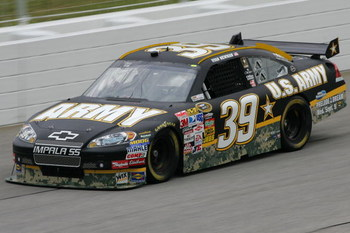 HAMPTON, GA - SEPTEMBER 05:  Ryan Newman, driver of the #39 US Army Chevrolet, practices for the NASCAR Sprint Cup Series Pep Boys Auto 500 at Atlanta Motor Speedway on September 5, 2009 in Hampton, Georgia.  (Photo by Todd Warshaw/Getty Images)