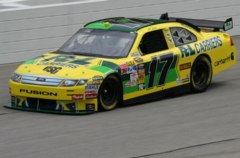 HAMPTON, GA - SEPTEMBER 05:  Matt Kenseth, driver of the #17 R&amp;L Carriers Ford, practices for the NASCAR Sprint Cup Series Pep Boys Auto 500 at Atlanta Motor Speedway on September 5, 2009 in Hampton, Georgia.  (Photo by Todd Warshaw/Getty Images)