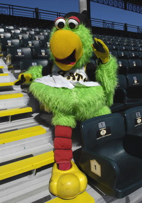 BRADENTON, FL - MARCH 21: The mascot of  the Pittsburgh Pirates before play against the Cincinnati Reds March 21, 2008 at McKechnie Field in Bradenton, Florida.  (Photo by Al Messerschmidt/Getty Images)