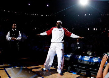 CLEVELAND - MAY 28:  LeBron James #23 of the Cleveland Cavaliers enters the court before Game Five of the Eastern Conference Finals against the Orlando Magic during the 2009 Playoffs at Quicken Loans Arena on May 28, 2009 in Cleveland, Ohio. NOTE TO USER:
