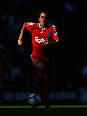 LIVERPOOL, ENGLAND - SEPTEMBER 12:  Yossi Benayoun of Liverpool in action during the Barclays Premier League match between Liverpool and Burnley at Anfield on September 12, 2009 in Liverpool, England.  (Photo by Ryan Pierse/Getty Images)