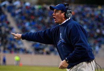 DURHAM, NC - NOVEMBER 29:  Head coach Butch Davis of the North Carolina Tar Heels yells to his defense during the game against the Duke Blue Devils at Wallace Wade Stadium on November 29, 2008 in Durham, North Carolina.  (Photo by Kevin C. Cox/Getty Image