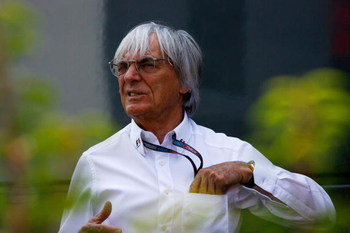 MONZA, ITALY - SEPTEMBER 13:  F1 supremo Bernie Ecclestone is seen in the paddock before the Italian Formula One Grand Prix at the Autodromo Nazionale di Monza on September 13, 2009 in Monza, Italy.  (Photo by Clive Rose/Getty Images)