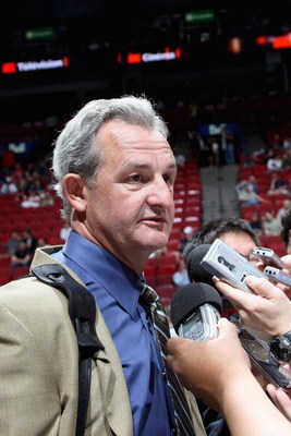 MONTREAL, QC - JUNE 27:  General Manager Darryl Sutter of the Calgary Flames speaks with the media during the 2009 NHL Entry Draft at the Bell Centre on June 27, 2009 in Montreal, Quebec, Canada. (Photo by Bruce Bennett/Getty Images)