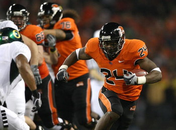 CORVALIS, OR - NOVEMBER 29:  Ryan McCants #24 of the Oregon State Beavers runs with the ball during their game against the Oregon Ducks at Reser Stadium on November 29, 2008 in Corvalis, Oregon. The Ducks defeated the Beavers 65-38. (Photo by Jonathan Fer