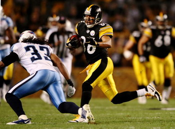 PITTSBURGH - SEPTEMBER 10:  Wide receiver Hines Ward #86 of the Pittsburgh Steelers carries the ball in the second quarter of the NFL season opener against the Tennessee Titans at Heinz Field on September 10, 2009 in Pittsburgh, Pennsylvania. (Photo by El