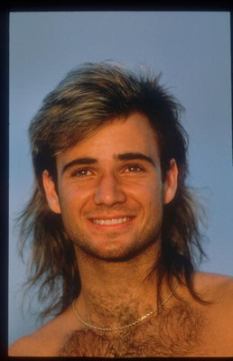 82719 01: Tennis Player Andre Agassi Smiles June 1990 In Paris, France. Agassi Made His Presence Known In 1987 In The Semifinals In Stratton Mountain And Went On To Win Several Titles Including His First Grand Slam Final At The French Open.  (Photo By Joh
