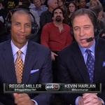 Kevin Harlan Alongside  Reggie Miller