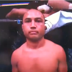 BJ Penn's Ear stuck on tarp