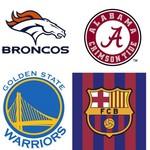 Broncos Alabama Warriors Barcelona Cubs