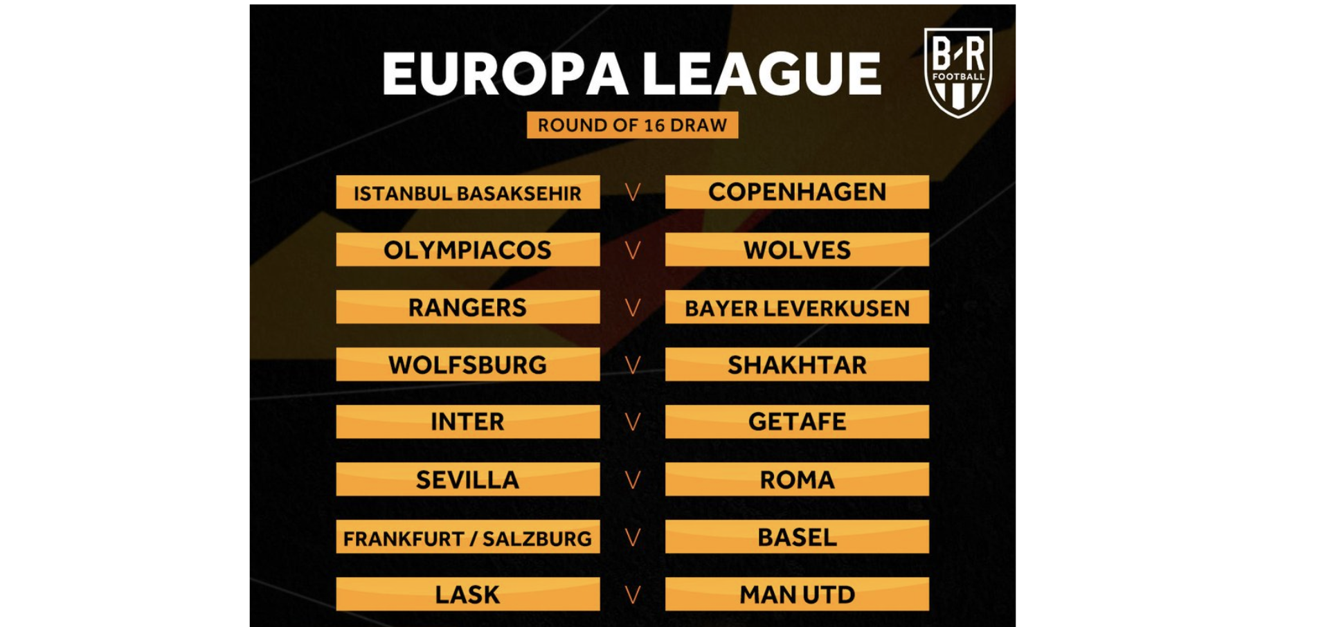 europa league draw 2020 schedule of dates for round of 16 fixtures bleacher report latest news videos and highlights europa league draw 2020 schedule of