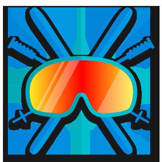 Skiing logo