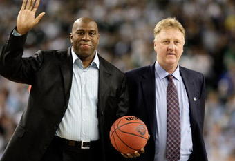 The rivalry between Magic Johnson and Larry Bird helped define the NBA in the 1980s.