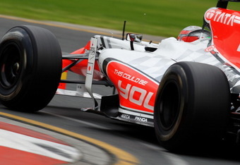 MELBOURNE, AUSTRALIA - MARCH 25:  Vitantonio Liuzzi of Italy and Hispania Racing Team drives during practice for the Australian Formula One Grand Prix at the Albert Park Circuit on March 25, 2011 in Melbourne, Australia.  (Photo by Paul Gilham/Getty Image