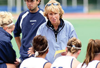 UConn Field Hockey coach Nancy Stevens. Russell Blair has fond memories of her. This is what we both love about the minor sports at UConn.