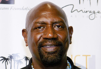 LAS VEGAS - JULY 9:  Former Los Angeles Lakers player Spencer Haywood arrives at the celebrity basketball 'New School vs. Old School' poker tournament at the Mirage July 9, 2005 in Las Vegas, Nevada. The event was held to benefit Operation Smile, the Amer