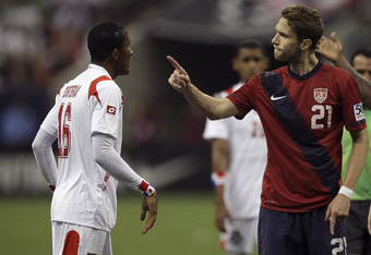 A couple of fingers were pointed at Goodson after his foul before half-time. The Panamanian attacker went around Goodson like he wasn't even there.