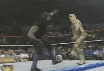 Undertaker vs Goldust for the Intercontinental Title. The Dead Man was so close to winning the title