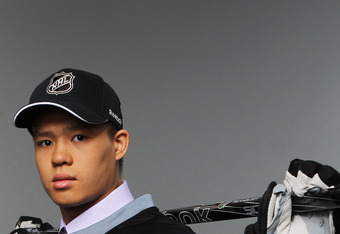 Defenseman Zach Yuen, picked 119thoverall by the Jets.