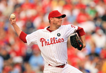 PHILADELPHIA - JUNE 10: Starting pitcher Roy Halladay #34 of the Philadelphia Phillies throws a pitch during a game against the Chicago Cubs at Citizens Bank Park on June 10, 2011 in Philadelphia, Pennsylvania. (Photo by Hunter Martin/Getty Images)
