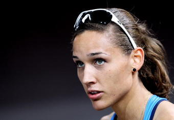 DOHA, QATAR - MARCH 12:  LoLo Jones of USA looks on after she competes in the Womens 60m Hurdle Heats during Day 1 of the IAAF World Indoor Championships at the Aspire Dome on March 12, 2010 in Doha, Qatar.   (Photo by Dean Mouhtaropoulos/Getty Images)