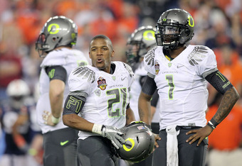 Darron Thomas and LaMichael James will be facing one of the nation's toughest defenses when Oregon takes on LSU in Texas on September 3rd.