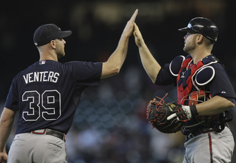 Jonny Venters has appeared in more games and thrown more innings that any relief pitcher in baseball this season.