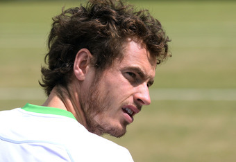 LONDON, ENGLAND - JUNE 30:  Andy Murray of Great Britain look on during practice on Day Ten of the Wimbledon Lawn Tennis Championships at the All England Lawn Tennis and Croquet Club on June 30, 2011 in London, England.  (Photo by Oli Scarff/Getty Images)