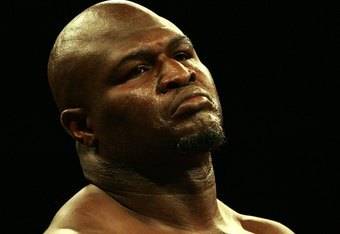 HOLLYWOOD, FL - JANUARY 06:  James 'Lights Out' Toney stares across the ring during his loss to Samuel 'Nigerian Nightmare' Peter in a WBC heavyweight title eliminator fight at the Hard Rock Hotel and Casino January 6, 2007 in Hollywood, Florida.  (Photo