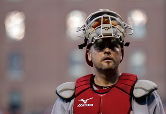 Ramon Hernandez might be a temporary solution at catcher.