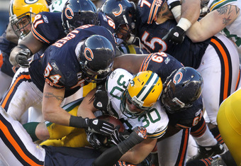 MIddle linebackers like Brian Urlacher have made reputations by making tough tackles. Urlacher's return to the Bears this season certainly helped their team's performance