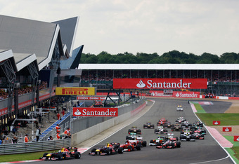 A very clean start for the 2011 race in Silverstone.