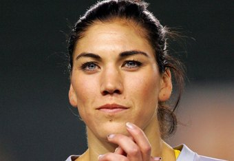 CARSON, CA - DECEMBER 13:  Goalkeeper Hope Solo #1 of the USA looks on prior to their international friendly match against China at The Home Depot Center on December 13, 2008 in Carson, California. The USA defeated China 1-0.  (Photo by Victor Decolongon/