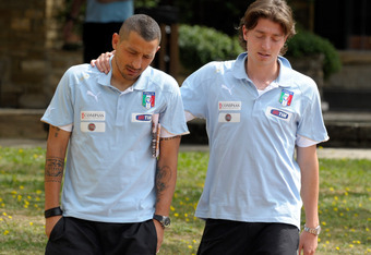Sampdoria's Angelo Palombo (left) would pair well with Riccardo Montolivo.