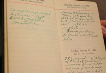 An Al Stump forged Diary From 1946 Removed from the Baseball Hall of Fame.