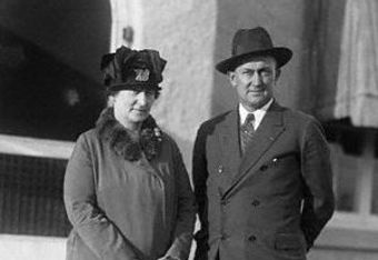 Ty and Amanda Cobb in Sarasota in 1927.