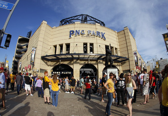 PITTSBURGH - JUNE 03:  Fans enter the ball park before the game between the Pittsburgh Pirates and the Philadelphia Phillies on June 3, 2011 at PNC Park in Pittsburgh, Pennsylvania. (Photo by Justin K. Aller/Getty Images)