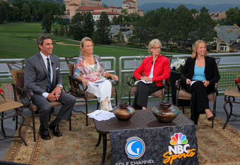 Annika recently at the U.S. Women;s Open with (l to R) Terry Gannon, Dottie Pepper and Judy Rankin.