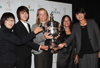 Annika with (L to R) Jiyai Shin, Na Yeon Choi, Ai Miyazato and Yani Tseng.