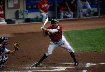 July 29, 2011: Hunter Pence stands in the box for one of his last swings as an Astro in Milwaukee.  He'll join the Phillies this weekend.