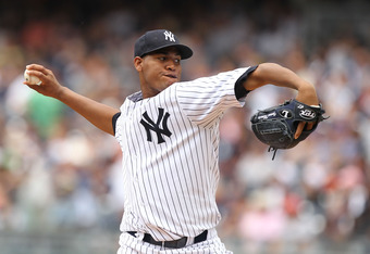 NEW YORK, NY - JUNE 26:  Ivan Nova #47 of the New York Yankees in action against the Colorado Rockies during their game on June 26, 2011 at Yankee Stadium in the Bronx borough of New York City.  (Photo by Al Bello/Getty Images)