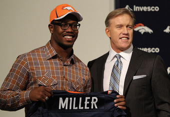 Broncos rookie Von Miller faces high expectations - he was one of a limited number of truly elite talents in the 2011 NFL Draft.