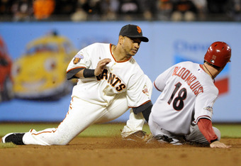 Orlando Cabrera brings playoff experience and Gold Glove caliber defense to the Giants postseason hopes.
