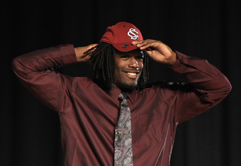 Jadeveon Clowney was the #1 high school recruit in 2010.