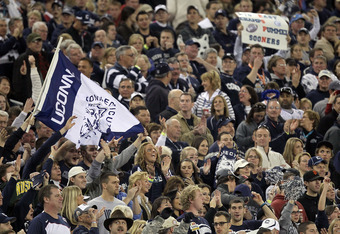 """Huskies fans were happy to be at the Fiesta Bowl but the parity in the Big East doesn't produce an """"elite"""" champion every year."""