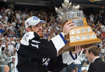 Richards took home the Conn Smythe Trophy in 2004, after leading the Lightning to their first and only Stanley Cup in franchise history.