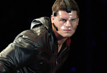 The horribly disfigured Cody Rhodes
