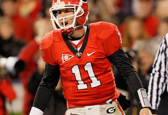 Aaron Murray put up superb numbers as a freshman, but loses his favorite target in A.J. Green