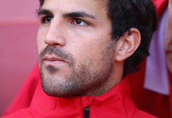 LONDON, ENGLAND - JULY 30:  Cesc Fabregas of Arsenal looks on ahead of the Emirates Cup match between Arsenal and Boca Juniors at the Emirates Stadium on July 30, 2011 in London, England.  (Photo by Richard Heathcote/Getty Images)